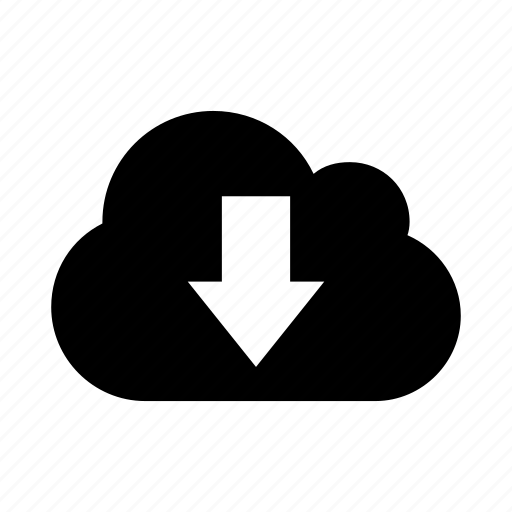 cloud, data, down, download, get, low icon