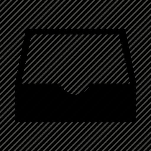 box, empty, inbox, message icon