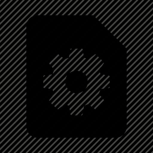 document, file, modifiy, setting icon