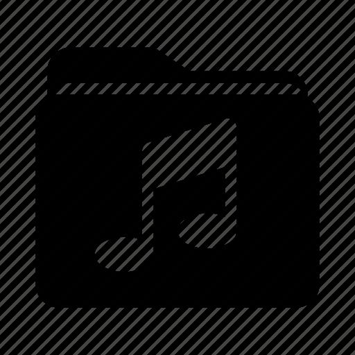 document, file, folder, media, music icon