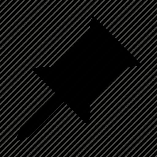 attach, board, pin, pushpin icon