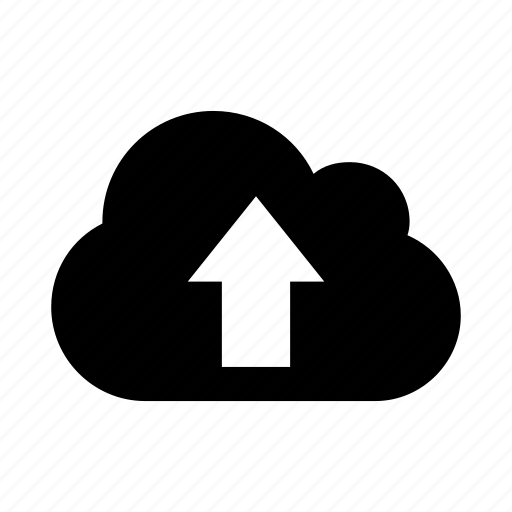 cloud, data, five, up, upload icon