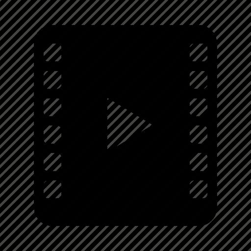 document, file, media, mocie, video icon