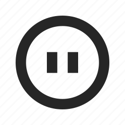 audio, break, music, pause, player, stop, video icon
