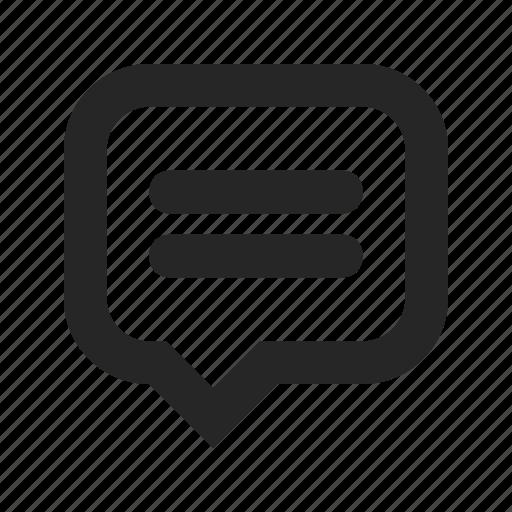 Bubble, comment, communication, dialogue, message, speech, talk icon - Download on Iconfinder