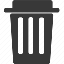 bin, can, delete, ecology, empty, recycle, remove icon