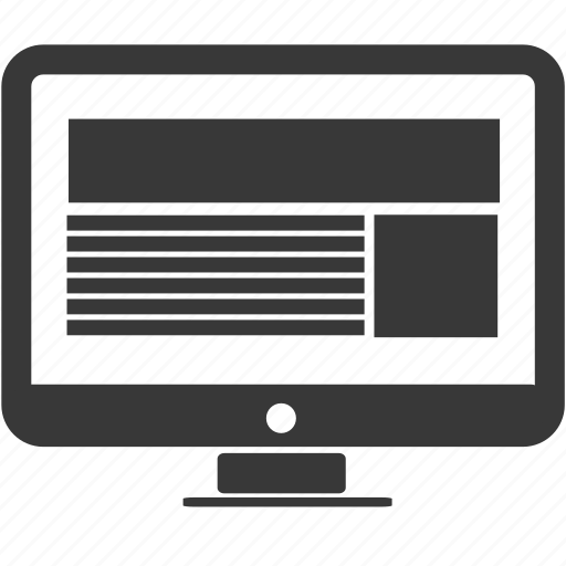 communication, document, form, monitor, page, text, web icon