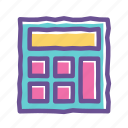 accounting, business, calculation, calculator, finance, math, mathematics icon