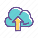 backup, cloud, data, internet, network, server, storage icon