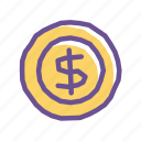 cash, coin, finance, investment, money, payment, wealth icon