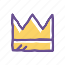 crown, king, luxury, majestic, success, throne, vip icon