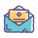 email, envelope, letter, mail, mailing, newsletter, send icon