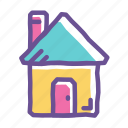 estate, home, house, main, residence, residential, shelter icon