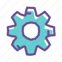 cogwheel, engineering, gear, industrial, option, setting, work icon