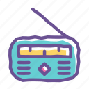 entertainment, fm, music, radio, sound, speaker, station icon