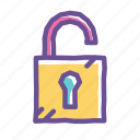 code, padlock, password, safe, secure, security, unlock icon