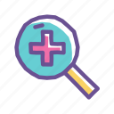 analysis, examine, macro, magnify, research, wider, zoom icon