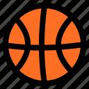 basketball, icon, plat, set icon