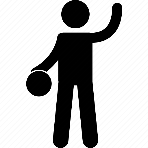 basketball, dribble, dribbling, man, player, playing, raising hand icon