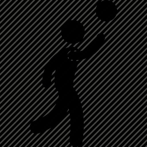 basketball, drill, jumping, layup, man, player, throw icon