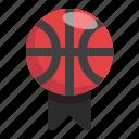 sport, basketball, win, game, award, badge, ball