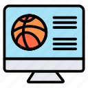 website, streaming, online, match, basketball
