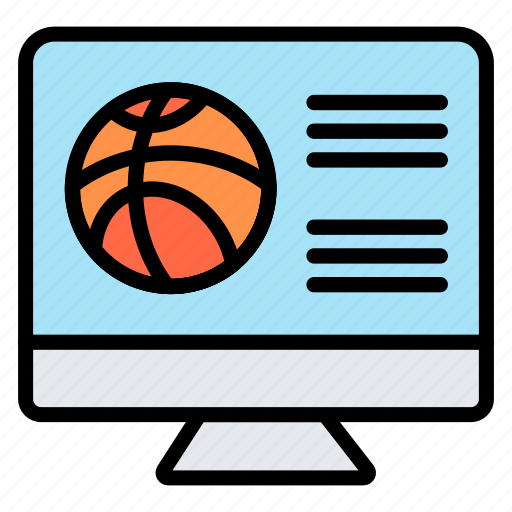 basketball, match, online, streaming, website icon