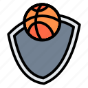 league, team, shield, badge, basketball