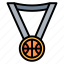medal, basketball, winner, award, prize
