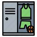 basketball, jersey, locker, player, room icon