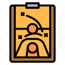 basketball, board, diagram, planning, strategy icon