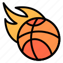 ball, basketball, burn, fire, flaming icon
