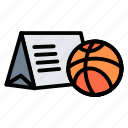 basketball, calendar, date, match, schedule icon