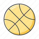 ball, basketball, filled, outline, sport, sports icon