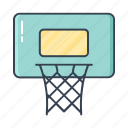 basketball, filled, hoop, outline, sport icon