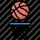 ball, basket, basketball, hoop, hoops, sportive, sports icon