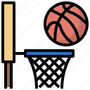ball, basket, basketball, clock, hoop, player, shoot icon