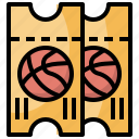 and, basketball, competition, entertainment, sport, sports, ticket icon