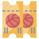 basketball, competition, entertainment, play, sport, sports, ticket icon