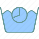 information, manual, timer, wash time icon