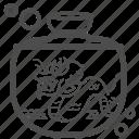 bath, bathtub, dragon, jar, shower, sink, water bowl icon