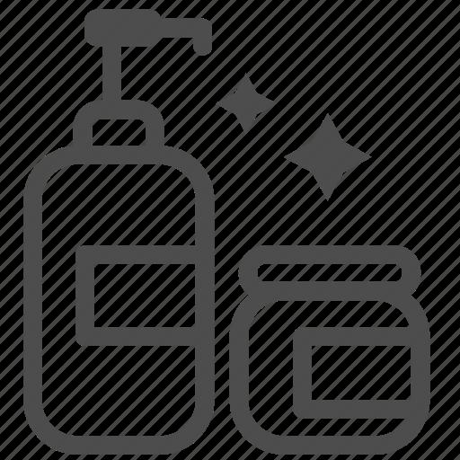 bath, bottle, clean, cream, dish, shampoo, soap icon