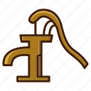 bathroom, clean, home, pump, water, water pump icon
