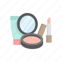 beauty, cosmetic, lipstick, makeup kit, makeup product, powder icon
