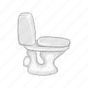 bathroom, bowl, cartoon, ceramic, sanitary, toilet, wc icon