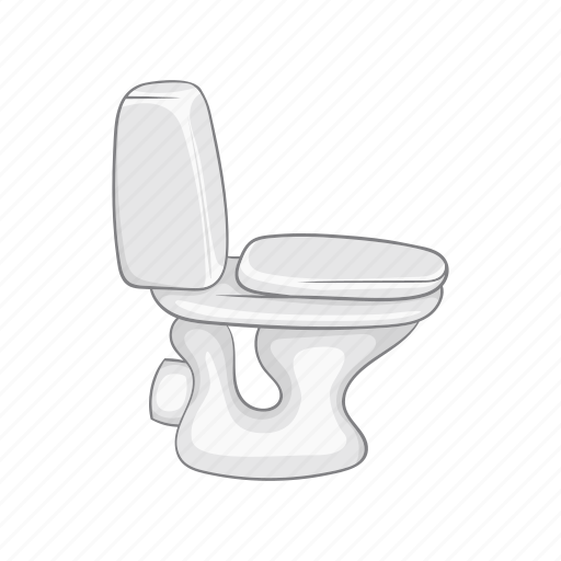 bathroom, bowl, cartoon, ceramic, sanitary, toilet, wc icon