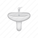 basin, bathroom, faucet, hygiene, interior, modern, sink icon