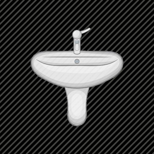 basin, bathroom, faucet, hygiene, interior, modern, sink icon
