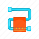 cartoon, heater, hot, interior, shiny, steel, towel icon
