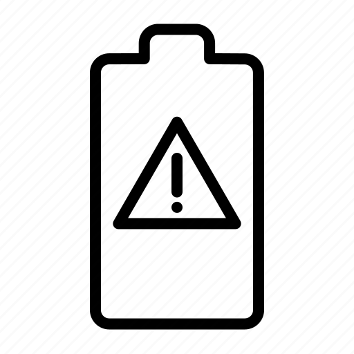 alarm, alert, attention, battery, danger, error, notification icon